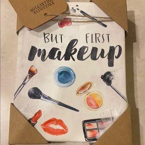 """""""but first makeup"""" pop out art"""
